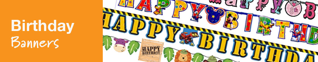 happy birthday banner and posters customised party banners just