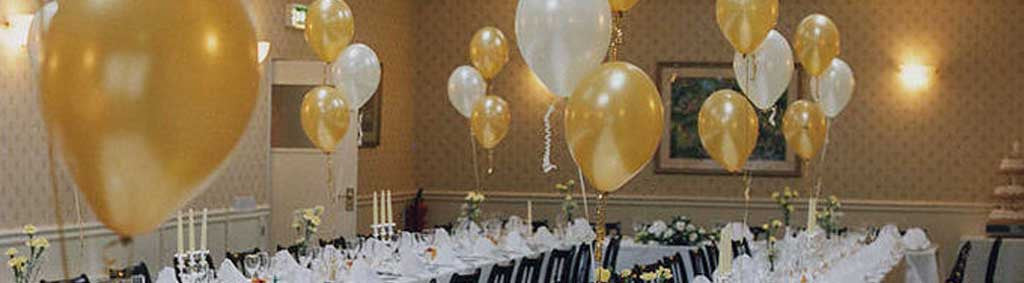 Plain coloured latex party balloons