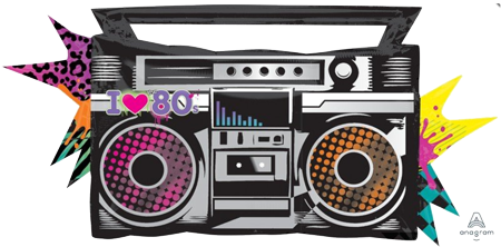 80's Boombox Foil Balloon | Auckland