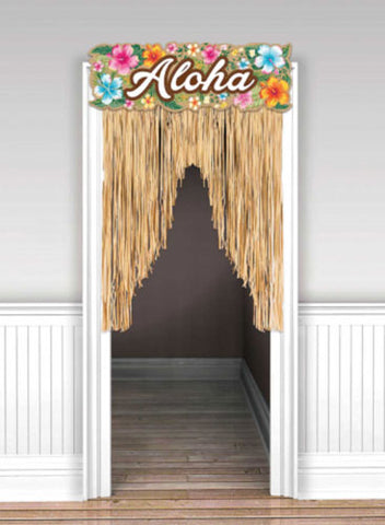 Aloha Summer Beach Party Door Curtain NZ