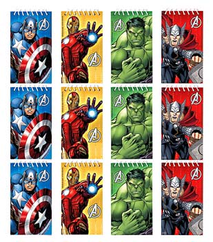 Avengers Mini Note Pads pk12