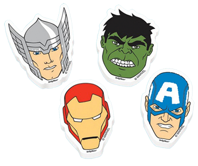 Avengers Erasers Party Favours NZ
