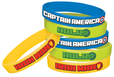 Avengers Rubber Bands Party Favours