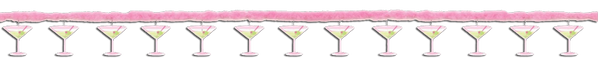 Bachelorette Party Martini Glasses Printed Garland with Marabou