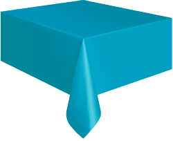 Bermuda Blue Plastic Table Cloth
