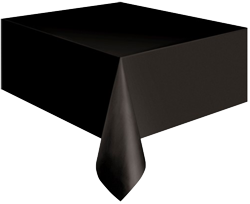 Black Plastic Table Cloth