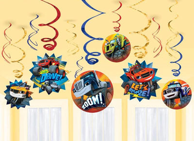 Blaze and the Monster Machines Swirl Decorations NZ