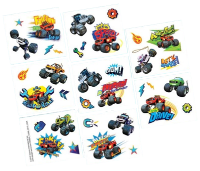 Blaze and the Monster Machines Party Tattoos NZ