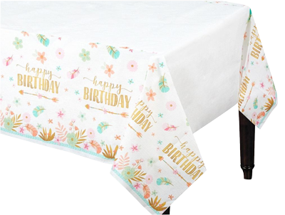 Boho Girl Paper Table Cloth NZ