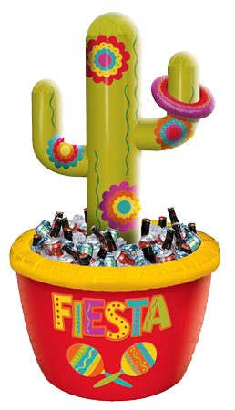 Inflatable Cactus Cooler and Ring Toss Game