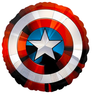 Captain America Foil Balloon Shield