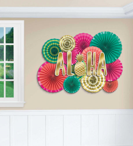Deluxe Tropical paper Fan Decorating Kit NZ