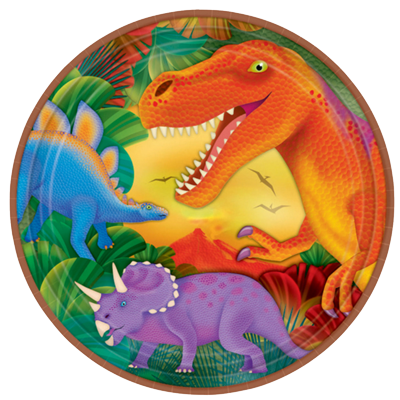 Dinosaur Large Party Plates NZ