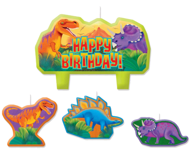 Dinosaur Birthday Candles