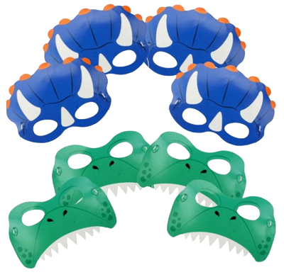 Dinosaur Party masks NZ