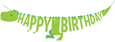 Dinosaur Shaped Birthday Banner NZ