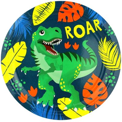 Dinosaur Roar Large Plates NZ