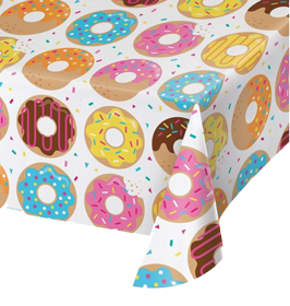 Donut Sprinkle Plastic Table Cloth