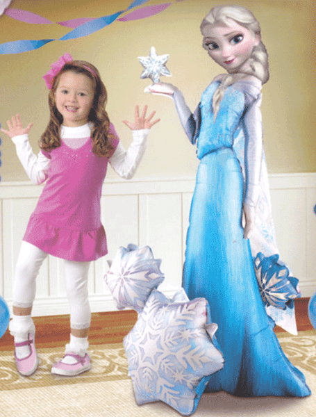 Elsa Frozen Air Walker Foil Super Shape Balloon