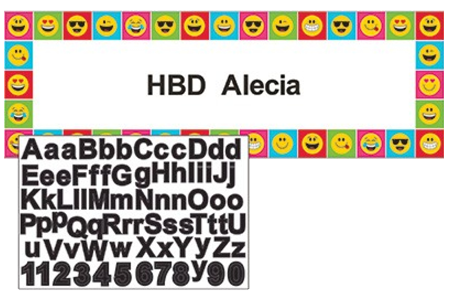 Emoji Giant Happy Birthday Banner NZ