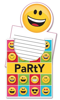 Emoji Party Invites NZ