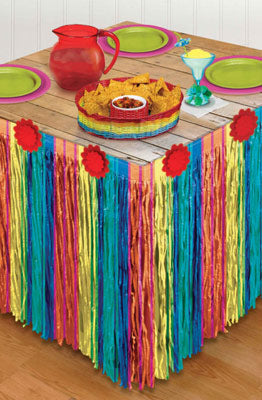 Mexican Fiesta Table Skirt Decoration NZ