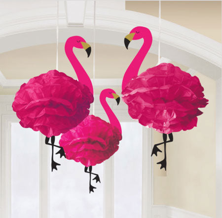 Flamingo tissue hanging decorations NZ