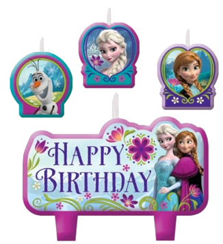 Frozen Moulded Party Candles pk4