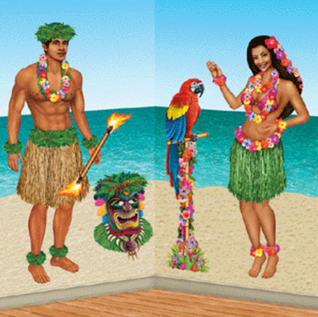 Hawaiian Insta Theme Wall Decoration Hula Girl