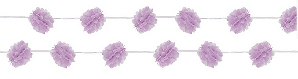Lavender Fluffy Garlands x 2