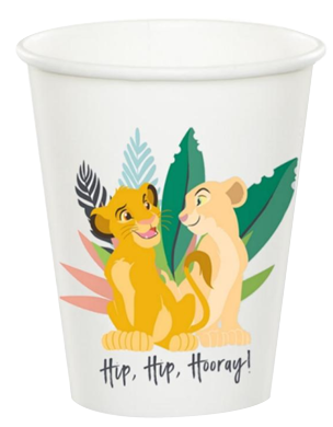 Lion King Party Cups pk8