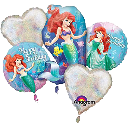 The Little Mermaid Bouquet Foil Balloon Set