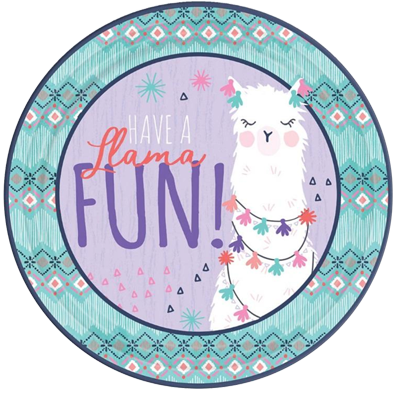 Llama Fun Large Party Plates NZ
