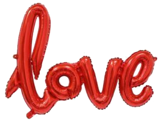 Love Red Foil Balloon