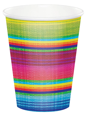 mexican fiesta serape party cups