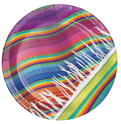 Mexican Serape Party Plates