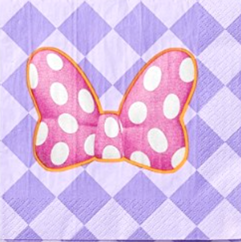 Minnie Mouse Bow Lunch Napkins