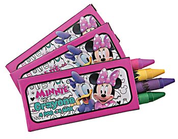 Minnie Mouse Party Crayons pk12