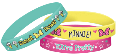 Minnie Mouse Rubber Bracelets