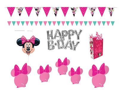 Minnie Mouse Wall Table Decorating Kit NZ