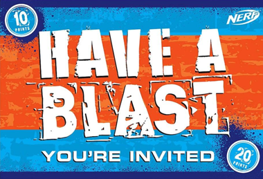 Nerf War Party Invitations NZ