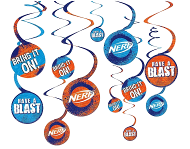 Nerf Swirl Decorations