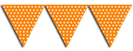 Orange Bunting Party Flags