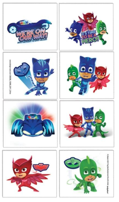 PJ Masks Party Tattoos