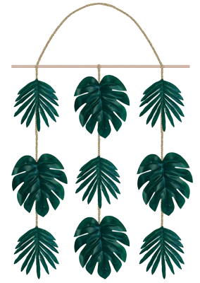 Palm Leaf Faux Hanging Decoration NZ