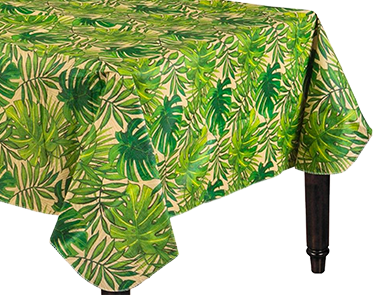 Palm Tree Flannel Backed Table Cloth