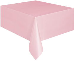Classic Pink Plastic Table Cloth