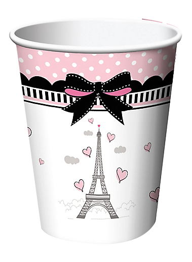 Pink Paris Party Cups
