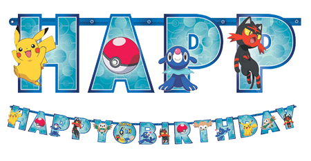 Pokemon Happy Birthday Banner NZ