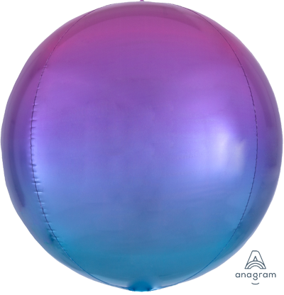 Purple BLue Orbz Foil Balloon